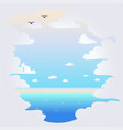background with clouds and sea vector image vector image