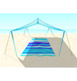 beach tent on a sand vector image vector image