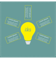 Big yellow light bulb infographic with text Idea c vector image