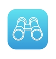 Binocular line icon vector image
