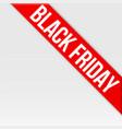 black friday tag ribbon vector image vector image