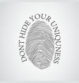 Black silhouette of fingerprint