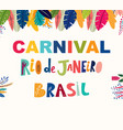 brazil carnival template vector image vector image