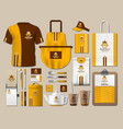 business fastfood corporate identity items set vector image vector image