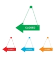 Closed sign Colorfull set vector image vector image
