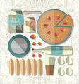 colorful of flat design style tiramisu recip vector image