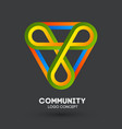 community care logo connecting people logo design vector image vector image