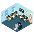 Computer Class Isometric Layout vector image