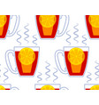 cup of tea pattern vector image vector image
