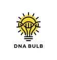 dna bulb idea think strain helix logo icon vector image