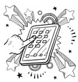 doodle pop ipadish vector image vector image