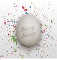 Easter realistic Egg with greeting Text vector image vector image