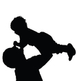 father with daughter happy black vector image vector image