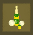 flat shading style icon champagne oranges vector image vector image