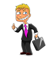 Funny businessman vector image