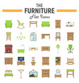 furniture flat icon set interior sign collection vector image vector image