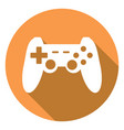 game joypad icon with a long shadow vector image