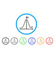 gauss plot rounded icon vector image vector image