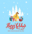 gifts happy holiday card vector image vector image