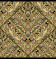 gold baroque 3d seamless pattern geometric vector image vector image