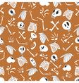 Halloween skeletons pattern 03 vector image vector image