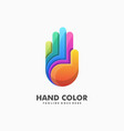 hand colorful design template vector image