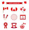 Happy canada day icons set design elements flat