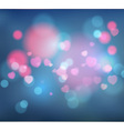 heart and bokeh abstract background vector image vector image