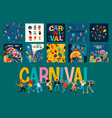 hello carnival set for vector image vector image