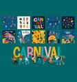 hello carnival set vector image vector image
