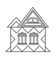 House with attic icon outline style vector image vector image