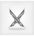 Letter X metallic symbol
