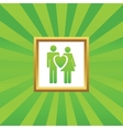 Love couple picture icon vector image vector image
