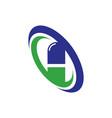 medical capsule logo vector image