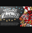 Merry christmas typographical different gift box