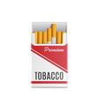 mockup 3d realistic pack cigarettes
