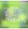 Natural products poster vector image vector image