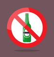 no bottle of beer symbol vector image vector image