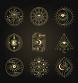 occult emblems meditation alchemy mystical vector image