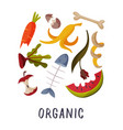 organic waste garbage sorting segregation and vector image vector image