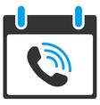Phone Call Calendar Day Toolbar Icon vector image vector image