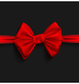 Realistic Ribbon red bow vector image vector image
