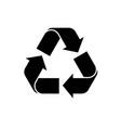 recycle icon black recycling symbol icon of vector image vector image