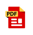 red icon pdf file format extensions icon vector image vector image