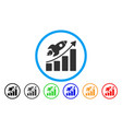 rocket startup chart rounded icon vector image vector image