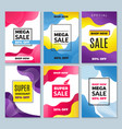 sale banners abstract background for super vector image vector image
