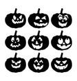 scary pumpkin face symbol icon design vector image vector image