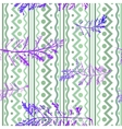 Seamless imprints pattern of the branched herbs vector image vector image