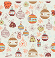 seamless pattern with christmas balls vector image vector image