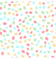 seamless pattern with colorful easter eggs vector image